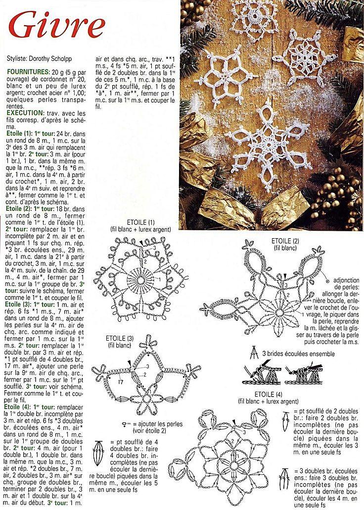 snowflakes crochet 114 schema