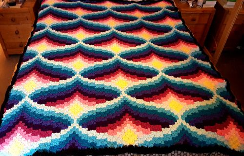 Hand Knit Blanket Step By Step