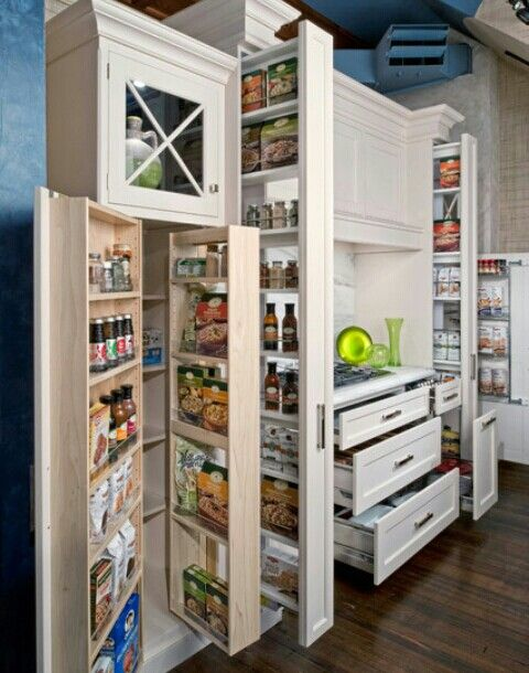 Space-saving cabinets!'doors' within doors vs pullout shelves