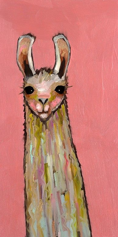 baby llama nursery wall art print