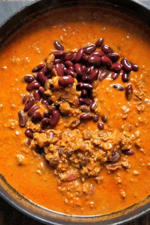 Chili con Carne mit orientalischer Tomatensauce
