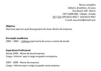 Exemplos e modelos de currículum vitae e curriculos