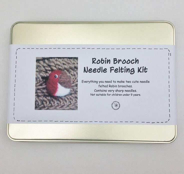Robin Brooch Needle Felting Kit