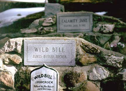 The Graves of Wild Bill Hickok and Calamity Jane on Mt. Moriah in Deadwood, South Dakota