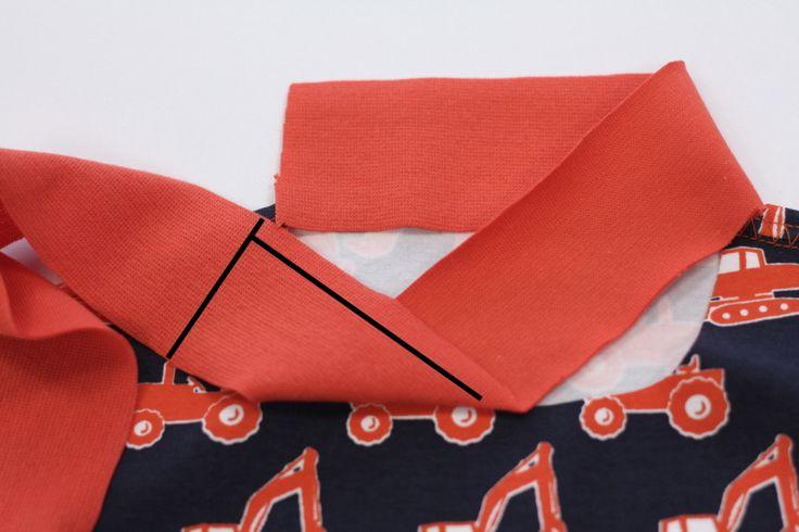 Halsbündchen Maß finden Bild 3