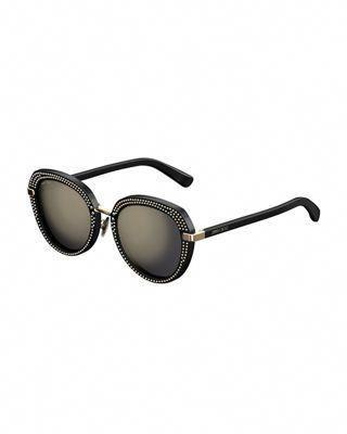 473ce08082c65 Jimmy Choo Mori Round Studded Sunglasses  JimmyChoo