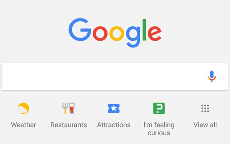New layout for hints and search shortcuts being tested by Google