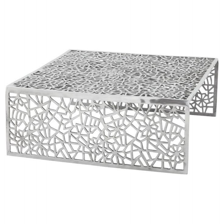 Contemporaine et stylée, la Table basse de salon carrée LADY en aluminium fera sensation dans votre intérieur.