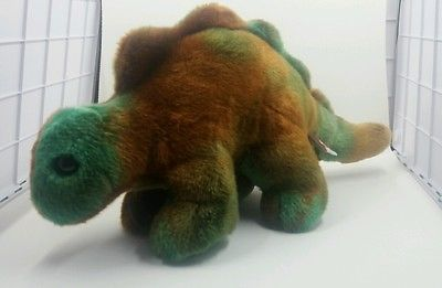 Ty Beanie Buddies Collection Plush Dinosaur 2000 Green Brown