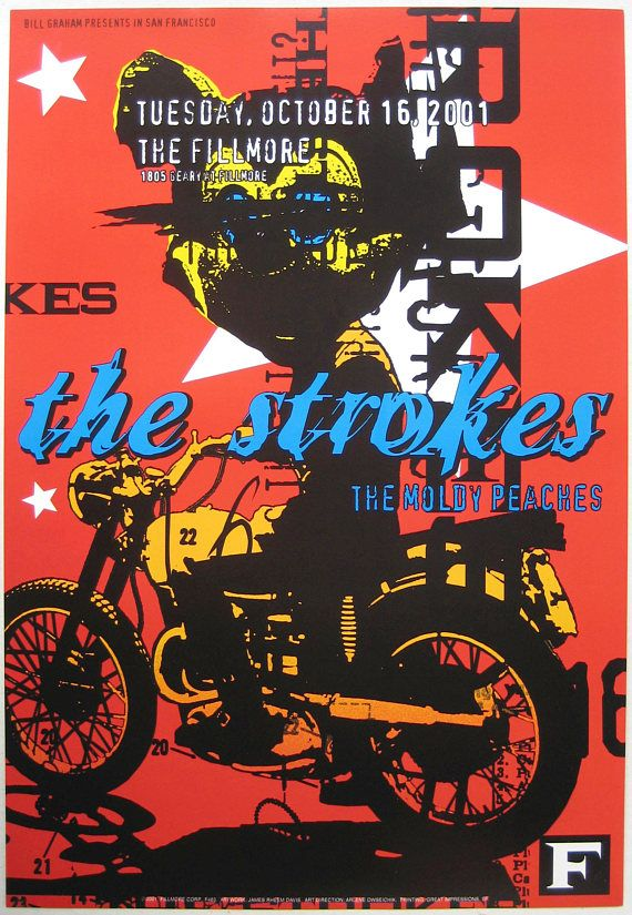 THE STROKES BAND POSTER VINTAGE CONCERT AD Available Sizes