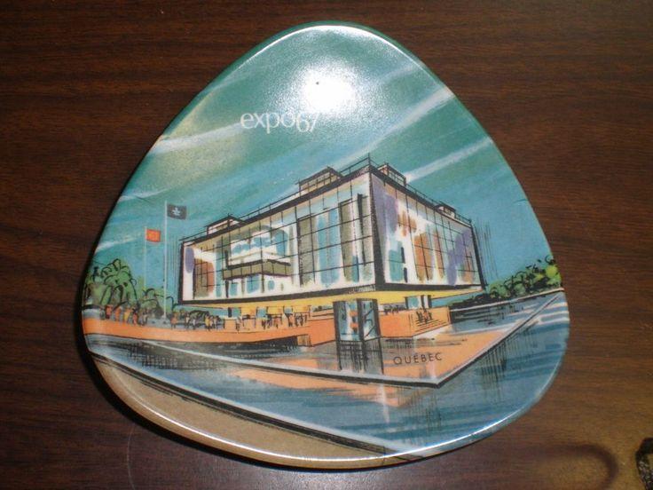 1967 Expo Quebec Montreal Canada World's Fair Souvrenir Dish Ornamold Melamine
