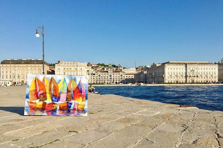 L'arte che risveglia la vita!!  Trieste June 5-17th  #contemporaryartgallery #paolofumagalli #photooftheday #dipintoamano #fineartgallery #artworkshop #triestesocial #masterpiece #fluidofiume #italianartist #inspiration #instagood #instaartist #pieceofart #artgallery #beautiful #amazing #artworks #creative #instaart #inspire #gallery #design #artistic #colour #coffee #gopro #art