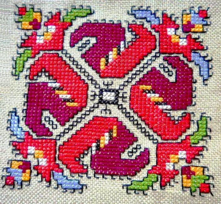 Bulgarian embroidery pattern ✳6
