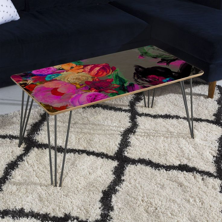 Biljana Kroll Floral Storm Coffee Table | DENY Designs Home Accessories