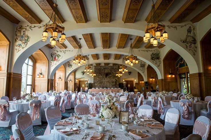 The beautiful Victoria Ballroom at Chateau Lake Louise.  Designed by Creative Weddngs - www.tlawphotography.ca