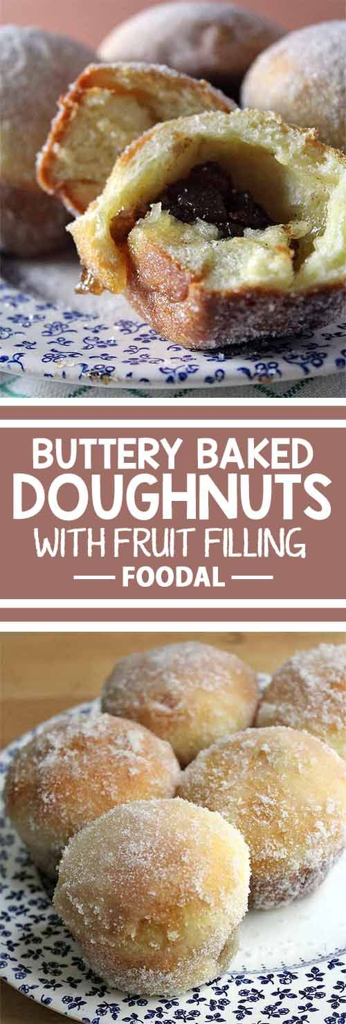 Whether it's breakfast or dessert, you won't be able to resist these sweet, buttery, and delicious baked donuts. And you can make these easy fruit-filled pastries with our buttery brioche dough in your own kitchen!