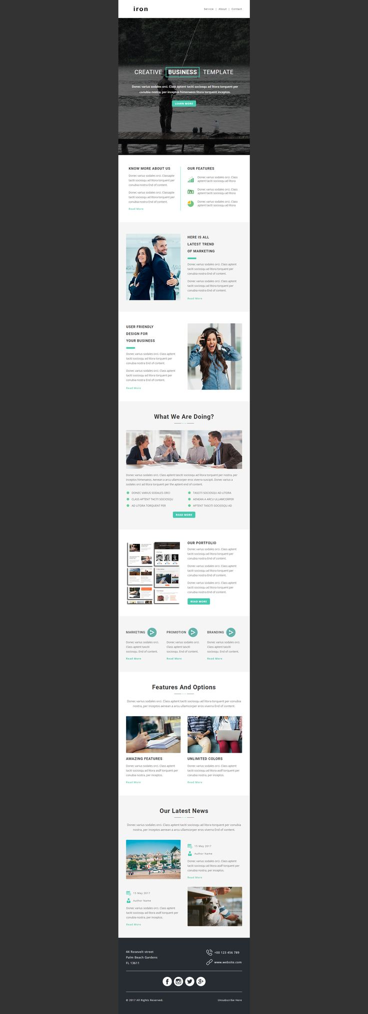 61 best Beautiful Responsive Newsletter Template images on Pinterest ...