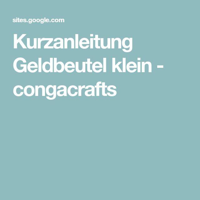 Kurzanleitung Geldbeutel klein - congacrafts