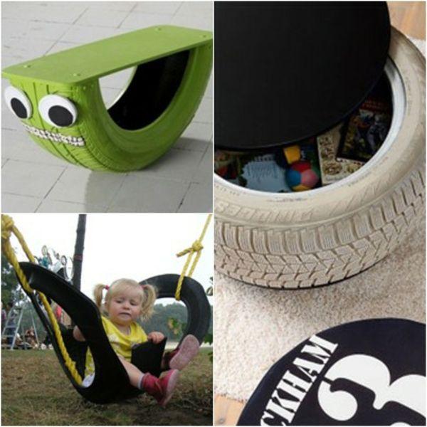 Möbel Autoreifen autoreifen recycling verspielt designs kindgerecht