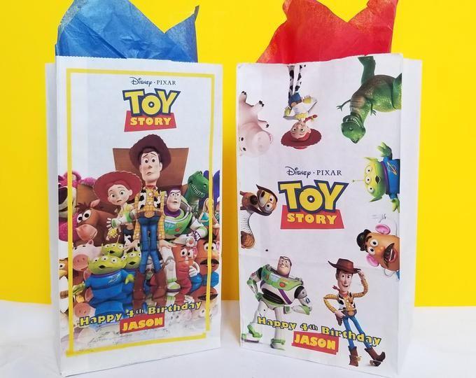 Toy Story 4 Birthday Centerpiece Candy Jar Gumball Party Decoration Baby Shower Centerpiece Bo Peep Forky Buzz Jessie Woody A101 Toy Story Birthday Party Toy Story Invitations Toy Story Party