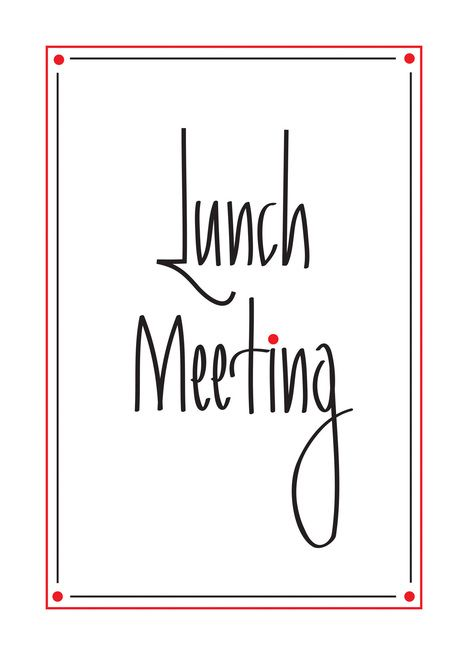 Hand Lettered Business Invitation To Lunch Meeting Card In 2019