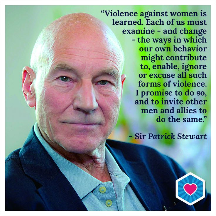 Sir Patrick Stewart calls on all to end violence against women