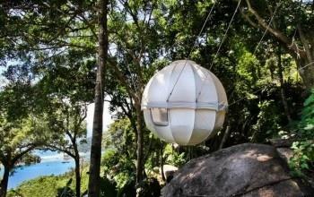 La tenda che è un'alternativa alla casetta sull'albero