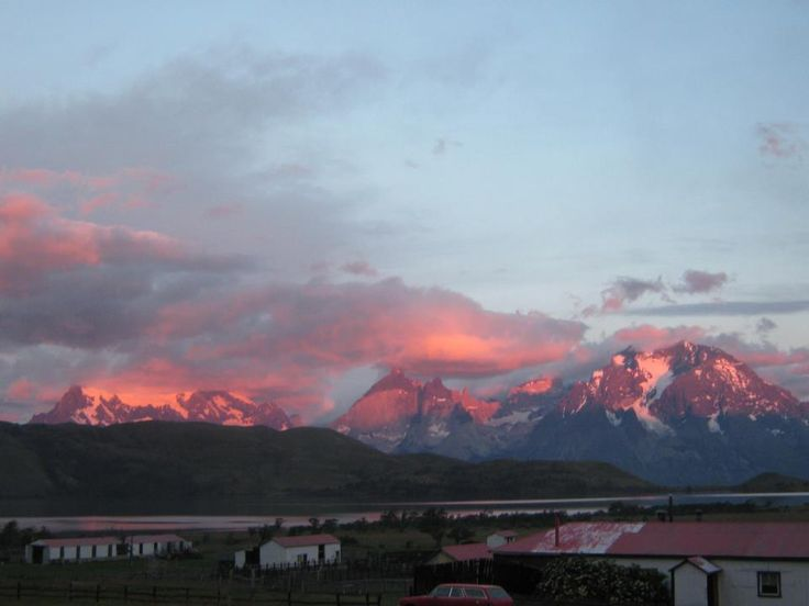 Sunrise in Mirador del Paine Hotel