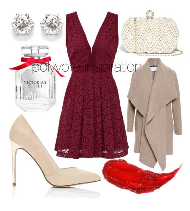 """""""Untitled #177"""" by loveemyself on Polyvore featuring Victoria's Secret, Free People, Miss Selfridge, GUESS by Marciano, Harris Wharf London and Charlotte Tilbury"""