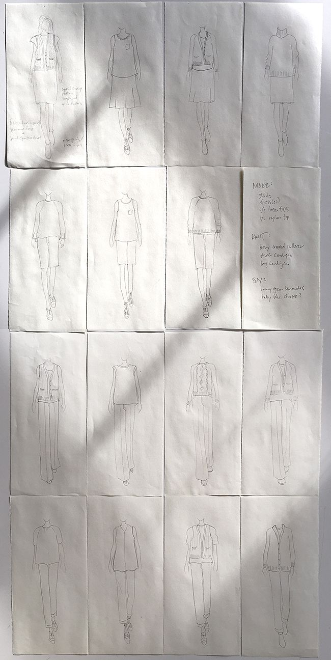 A lovely post on Fringe Association about Wardrobe Planning: My silhouettes for 2015