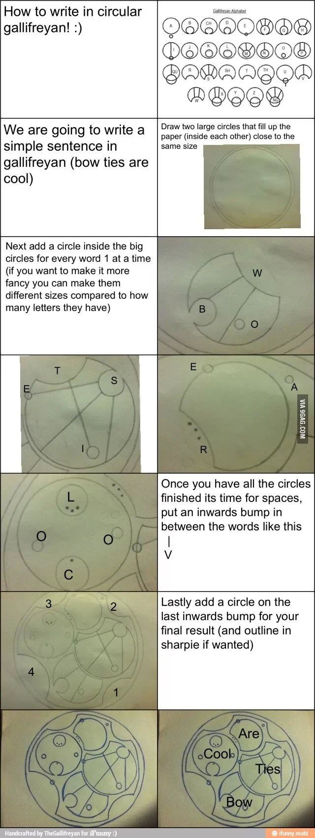 How to write Gallifreyan. MUST LEARN THIS!