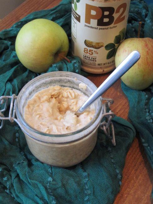 Applesauce PB2 Overnight Oatmeal by The Oatmeal Artist