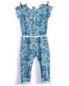 Combi pour Fillettes KARAMBAR - Patron couture et tutoriel imagé - Patrons de couture chez Makerist