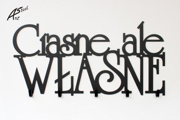 Wieszak na ubrania Ciasne ale własne. www.art-steel.pl