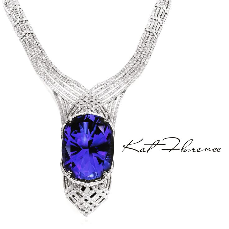 The KAT FLORENCE 423.56carat Tanzanite Necklace - as seen on Discovery originally weighed in at 563 carats
