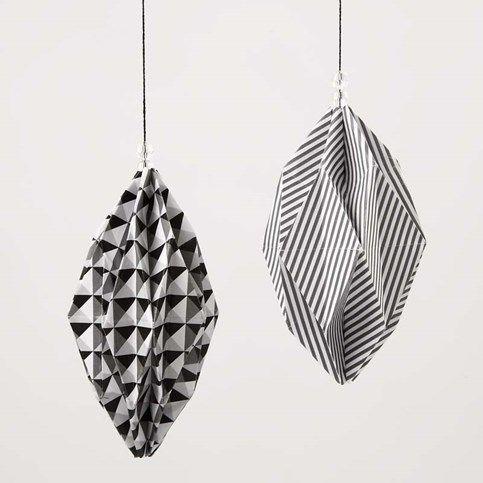 13281 Diamantvormige kerstballen van Paris Design papier