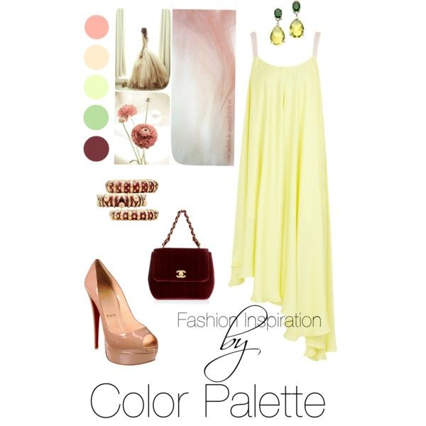 how to create an outfit inspired by a colour palette