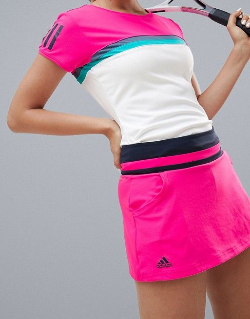 7ab92d7038 adidas Tennis Skirt In Hot Pink in 2019 | Fitness | Adidas, Gym ...