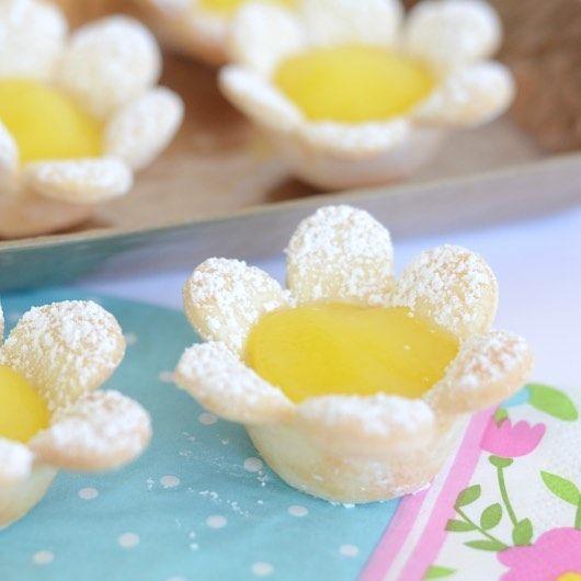 Planning an Easter party? These Lemon Flower Tarts will impresshellip