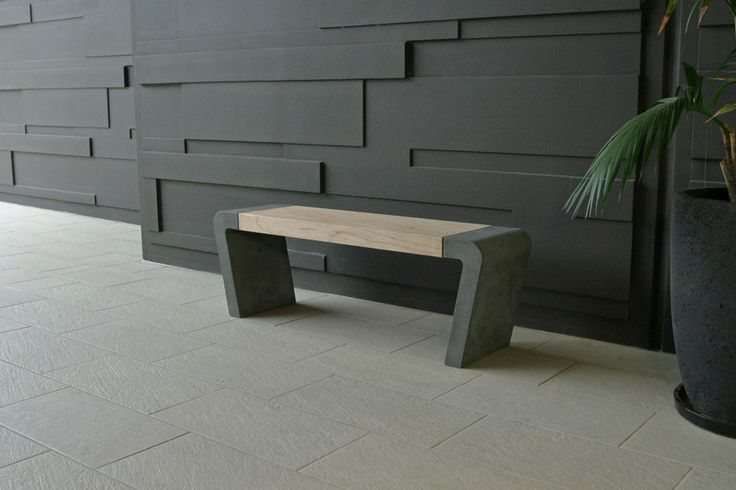 POPconcrete Istu Bench Seat camouflaged against a grey wall ;)