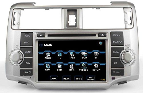 10-13 Toyota 4Runner In-Dash GPS Navigation DVD Player Bluetooth A2DP Audio Streaming 8 Inch Touchscreen FM AM Radio USB SD Stereo Virtual 6-Disc CD Changer Deck 2010 2011 2012 2013 AV Receiver * To view further for this item, visit the image link.