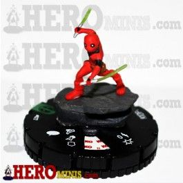 Kidpool is piece number 022 in the Marvel Comics Deadpool HeroClix set. This Uncommon piece costs 60 points, has a Speech Bubble power and has 4 clicks of life. Kidpool has the Deadpool Corps and X-Men keywords and can use the X-Men team ability.