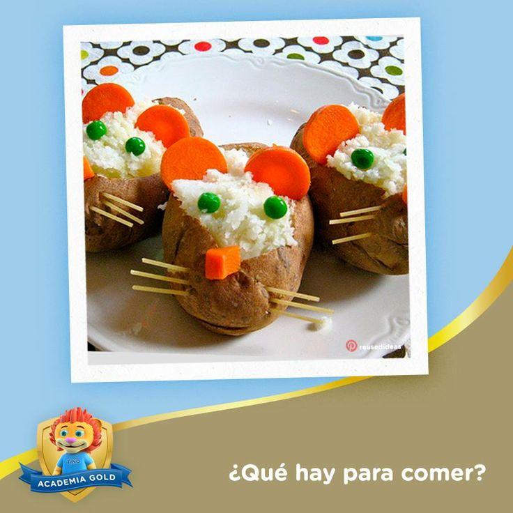 Sorprende a tu pequeño y a toda la familia preparando estos deliciosos ratoncitos hechos con papa al horno, rellena de arroz y verduras. ¡Les encantarán!