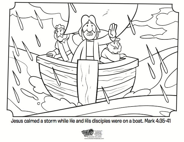 41 best Bible color pages images on Pinterest Sunday school - fresh colouring pictures jesus calms the storm