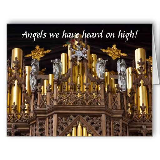 Angels on Chester organ big Christmas card
