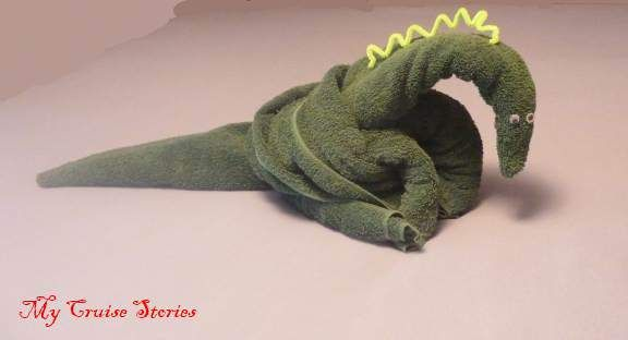 Towels Animals - Zwierzęta z ręczników - Origami z ręczników dinosaur