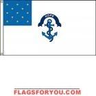 High Wind, US Made Rhode Island Regiment Flag 2x3