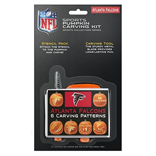 NFL Pumpkin Carving Kit  https://allstarsportsfan.com/product/nfl-pumpkin-carving-kit/  One Sports Pumpkin Carving Kit Kit Contains Six Team Specific Designs and Three Piece Tool Set Tool Set Consists of a Carving Saw, Scoop and Glue Stick
