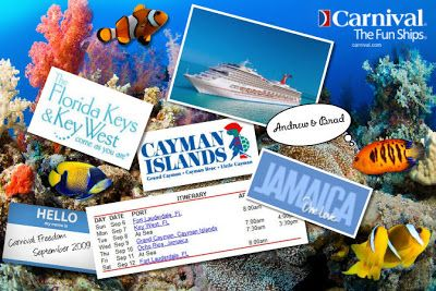 cruise scrapbook pages | You can now create scrapbook pages directly on the Carnival Cruises ...