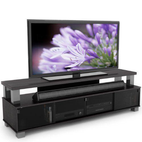 B 003 Rbt Bromley 75 Inch 2 Tier Tv Bench Ravenwood Black